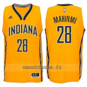 canotte mahinmi #28 indiana pacers 2014-2015 giallo