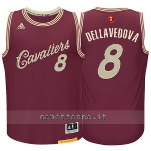 canotte matthew dellavedova #8 cleveland cavaliers natale 2015 resso