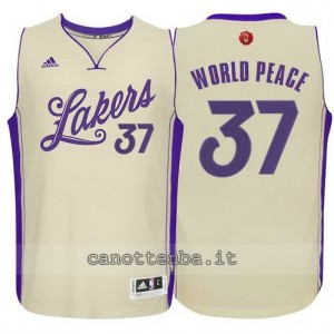 canotte metta world peace #37 los angeles lakers natale 2015 giallo