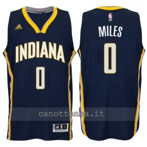 canotte miles #0 indiana pacers 2014-2015 blu