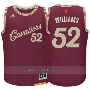canotte mo williams #52 cleveland cavaliers natale 2015 resso
