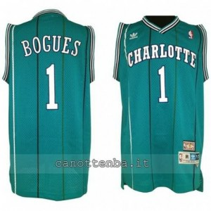 canotte muggsy bogues #1 charlotte hornets retro