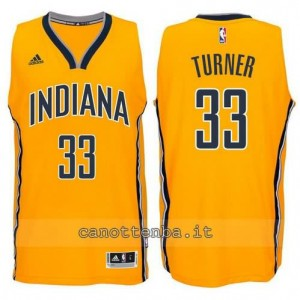 canotte myles turner #33 indiana pacers 2014-2015 giallo