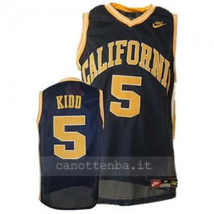 canotte ncaa north california jason kidd #5 navy blu