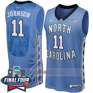 canotte ncaa north carolina tar heels brice johnson #11 blu