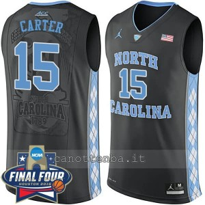 canotte ncaa north carolina tar heels vince carter #15 nero