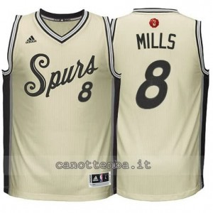 canotte patty mills #8 san antonio spurs natale 2015 giallo