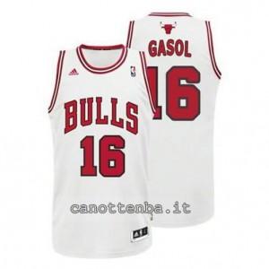 canotte pau gasol #16 chicago bulls revolution 30 bianca