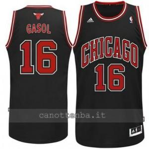 canotte pau gasol #16 chicago bulls revolution 30 nero
