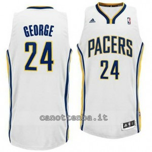 canotte paul george #24 indiana pacers revolution 30 bianca
