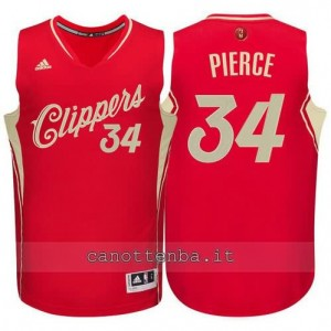 canotte paul pierce #34 los angeles clippers natale 2015 rosso