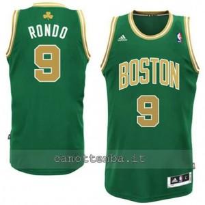 canotte rajon rondo #9 boston celtics 2014-2015 d'oro