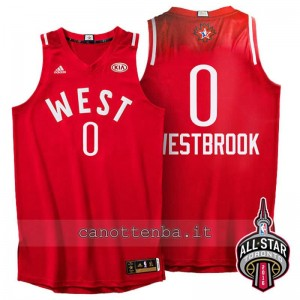 canotte russell westbrook #0 nba all star 2016 rosso