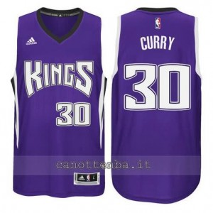 canotte seth curry #30 sacramento kings porpora