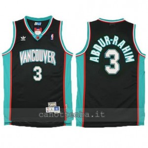 canotte shareef abdur-rahim #3 vancouver grizzlies nero