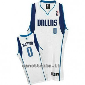 canotte shawn marion #0 dallas mavericks revolution 30 bianca