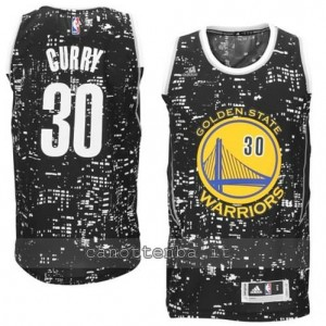 canotte stephen curry #30 golden state warriors lights nero