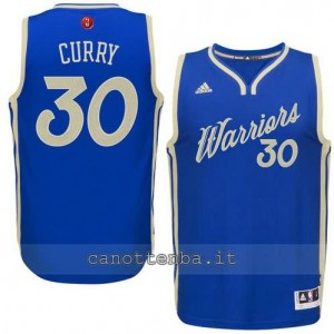 canotte stephen curry #30 golden state warriors natale 2015 blu