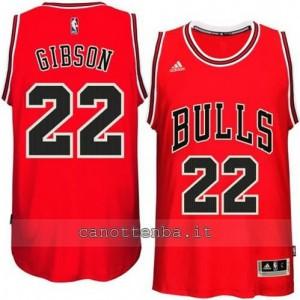 canotte taj gibson #22 chicago bulls 2014-2015 rosso