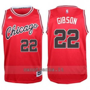 canotte taj gibson #22 chicago bulls 2015-2016 rosso