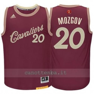 canotte timofey mozgov #20 cleveland cavaliers natale 2015 resso