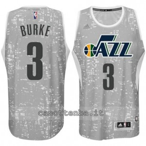 canotte trey burke #3 utah jazz lights grigio