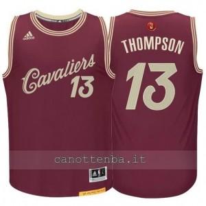 canotte tristan thompson #13 cleveland cavaliers natale 2015 resso