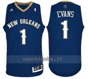 canotte tyreke evans #1 new orleans pelicans revolution 30 blu