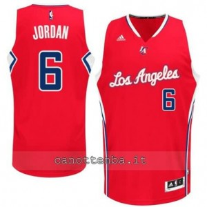 maglia DeAndre jordan #6 los angeles clippers 2014-2015 rosso