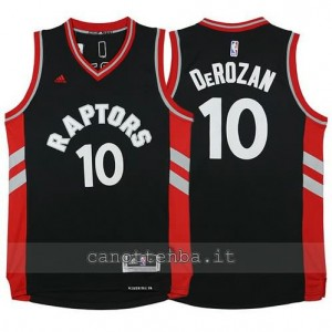 maglia DeMar DeRozan #10 toronto raptors 2015-2016 nero
