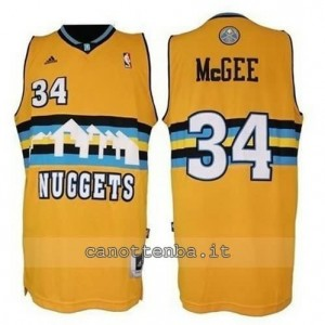 maglia JaVale McGee #34 denver nuggets revolution 30 giallo