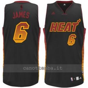 maglia LeBron James #6 miami heat vibe nero