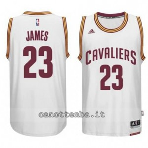 maglia LeBron james #23 cleveland cavaliers 2014-2015 bianca