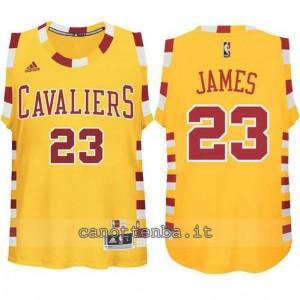 maglia LeBron james #23 cleveland cavaliers classico giallo