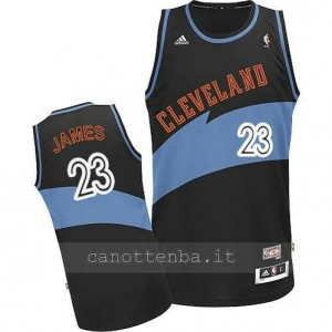 maglia LeBron james #23 cleveland cavaliers retro blu