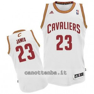 maglia LeBron james #23 cleveland cavaliers revolution 30 bianca
