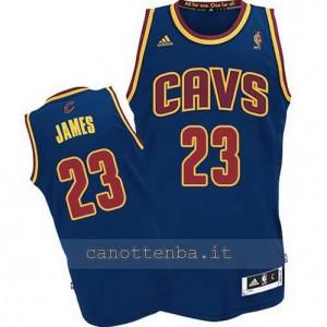 maglia LeBron james #23 cleveland cavaliers revolution 30 blu