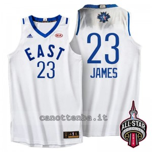 maglia LeBron james #23 nba all star 2016 bianca