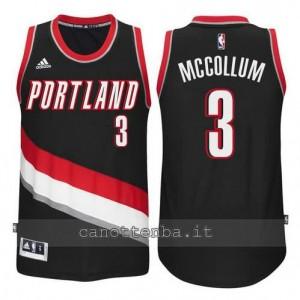 maglia McCollum #3 portland trail blazers 2014-2015 nero