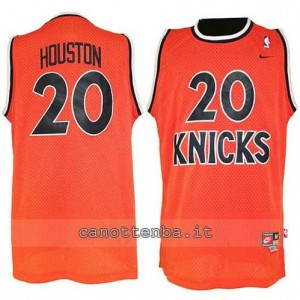 maglia allan houston #20 new york knicks hwc throwback arancia