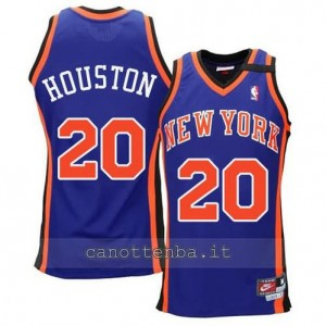 maglia allan houston #20 new york knicks hwc throwback blu