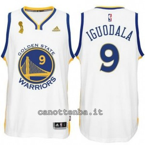 maglia andre iguodala #9 golden state warriors campioni 2015 bianca