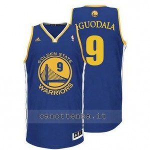 maglia andre iguodala #9 golden state warriors revolution 30 blu
