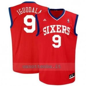 maglia andre iguodala #9 philadelphia 76ers revolution 30 rosso