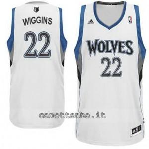 maglia andrew wiggins #22 minnesota timberwolves revolution 30 bianca