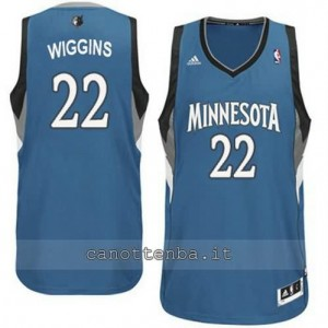 maglia andrew wiggins #22 minnesota timberwolves revolution 30 blu