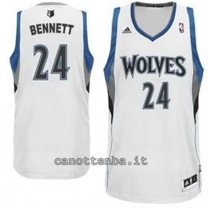 maglia anthony bennett #24 minnesota timberwolves revolution 30 bianca