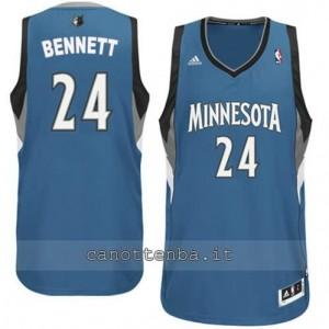 maglia anthony bennett #24 minnesota timberwolves revolution 30 blu