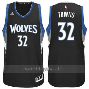 maglia anthony towns #32 minnesota timberwolves nero