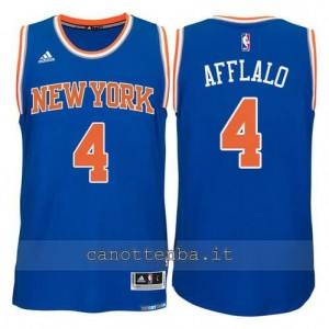 maglia arron afflalo #4 new york knicks 2015 swingman blu